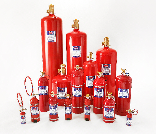 Sea Fire FM200 Engine Fire Extinguishers